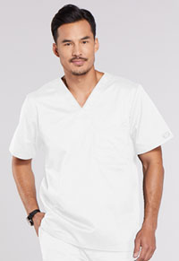 Cherokee Workwear Men's V-Neck Top White (4743-WHTW)