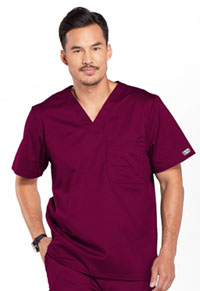 Cherokee Workwear Men's Tuckable V-Neck Top Wine (4743-WINW)