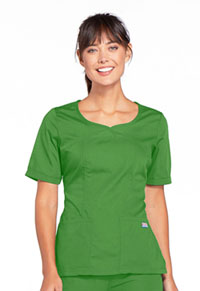 Cherokee Workwear V-Neck Top Aloe (4746-ALOW)