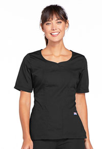 Cherokee Workwear V-Neck Top Black (4746-BLKW)
