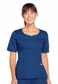 Cherokee Workwear V-Neck Top Galaxy Blue (4746-GABW)