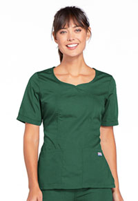 Cherokee Workwear V-Neck Top Hunter (4746-HUNW)