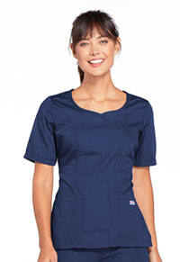 Cherokee Workwear V-Neck Top Navy (4746-NAVW)
