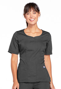 Cherokee Workwear V-Neck Top Pewter (4746-PWTW)