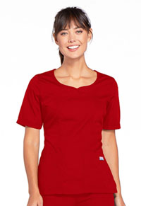 Cherokee Workwear V-Neck Top Red (4746-REDW)