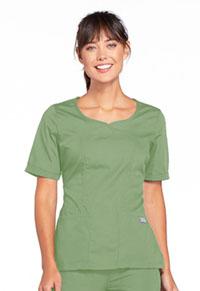 Cherokee Workwear V-Neck Top Sage Green (4746-SAGW)