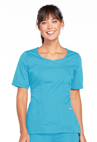 Cherokee Workwear V-Neck Top Turquoise (4746-TRQW)