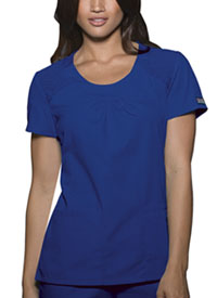 Cherokee Workwear Round Neck Top Galaxy Blue (4761-GABW)
