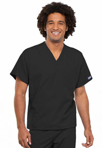 Cherokee Workwear Unisex V-Neck Tunic. Black (4777-BLKW)
