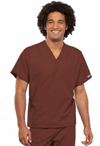 Cherokee Workwear Unisex V-Neck Tunic. Chocolate (4777-CHCW)
