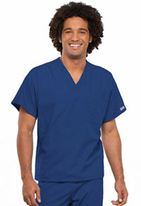 Cherokee Workwear Unisex V-Neck Tunic. Galaxy Blue (4777-GABW)