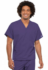 Cherokee Workwear Unisex V-Neck Tunic. Grape (4777-GRPW)