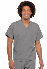 Cherokee Workwear Unisex V-Neck Tunic. Grey (4777-GRYW)