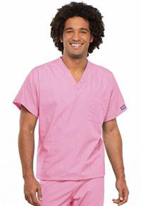 Cherokee Workwear Unisex V-Neck Tunic Pink Blush (4777-PKBW)