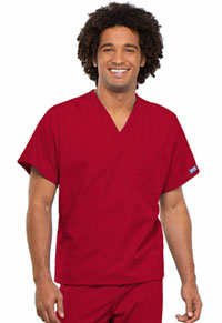 Cherokee Workwear Unisex V-Neck Tunic. Red (4777-REDW)
