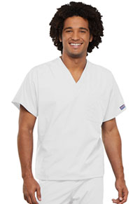 Cherokee Workwear Unisex V-Neck Tunic. White (4777-WHTW)