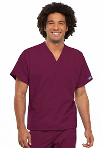 Cherokee Workwear Unisex V-Neck Tunic. Wine (4777-WINW)