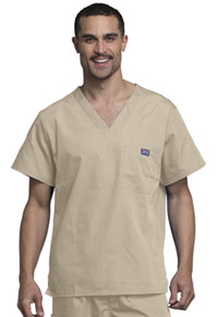 Cherokee Workwear Men's V-Neck Top Khaki (4789-KAKW)