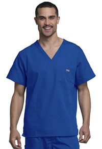 Cherokee Workwear Men's V-Neck Top Royal (4789-ROYW)