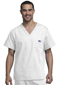 Cherokee Workwear Men's V-Neck Top White (4789-WHTW)