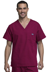 Cherokee Workwear Men's V-Neck Top Wine (4789-WINW)