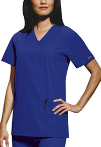 Cherokee Workwear Mock Wrap Tunic Galaxy Blue (4801-GABW)