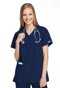 Cherokee Workwear Mock Wrap Tunic Navy (4801-NAVW)