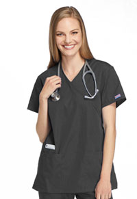 Cherokee Workwear Mock Wrap Tunic Pewter (4801-PWTW)