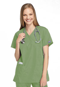 Cherokee Workwear Mock Wrap Tunic Sage Green (4801-SAGW)