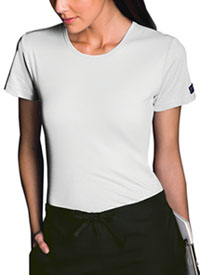 Cherokee Workwear Short Sleeve Underscrub Knit Tee White (4808-WHTW)