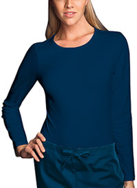 Cherokee Workwear Long Sleeve Underscrub Knit Tee Navy (4818-NAVW)