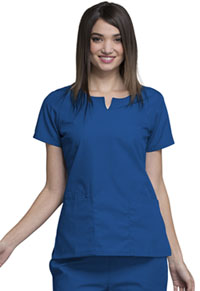 Cherokee Workwear Round Neck Top Galaxy Blue (4824-GABW)