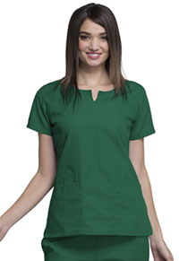 Cherokee Workwear Round Neck Top Hunter (4824-HUNW)