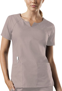 Cherokee Workwear Round Neck Top Khaki (4824-KAKW)