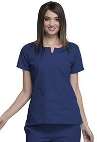 Cherokee Workwear Round Neck Top Navy (4824-NAVW)