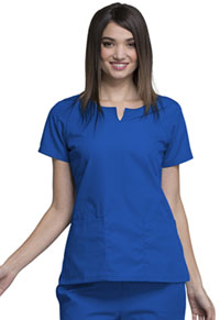 Cherokee Workwear Round Neck Top Royal (4824-ROYW)