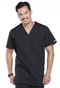 Cherokee Workwear Unisex V-Neck Top Black (4876-BLKW)