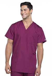 Cherokee Workwear Unisex V-Neck Top Wine (4876-WINW)