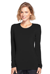 Cherokee Workwear Long Sleeve Underscrub Knit Tee Black (4881-BLKW)