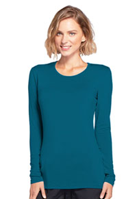 Long Sleeve Underscrub Knit Tee Caribbean Blue (4881-CARW)