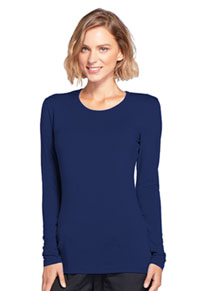 Long Sleeve Underscrub Knit Tee (4881-NAVW)
