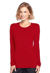 Cherokee Workwear Long Sleeve Underscrub Knit Tee Red (4881-REDW)