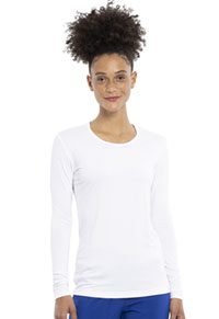 Cherokee Workwear Long Sleeve Underscrub Knit Tee White (4881-WHTW)