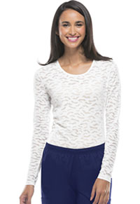 Cherokee Workwear Long Sleeve Underscrub Knit Tee White (4882-WHTW)