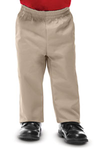 Classroom Uniforms Preschool Unisex Pull On Dbl Knee Pant Khaki (51060-KAK)