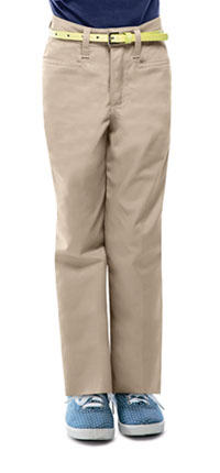 Classroom Uniforms Girls Adj. Waist Low Rise Pant Khaki (51072-KAK)