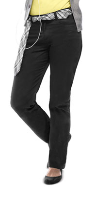 Juniors Stretch Matchstick Leg Pant (51284-BLK)