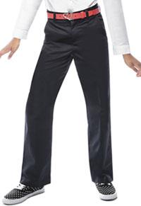 Classroom Uniforms Girls Adj. Waist Flat Front Trouser Black (51942-BLK)