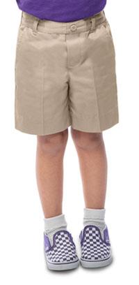 Classroom Uniforms Preschool Unisex Flat Front Short Khaki (52360-KAK)
