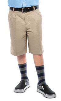 Classroom Boys Husky Pleat Front Short (52773-KAK) (52773-KAK)